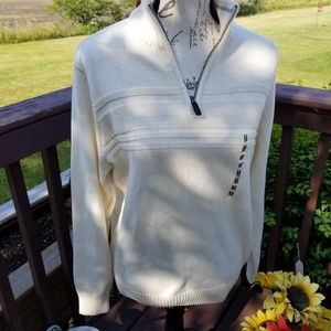 NWT Dockers Ivory knit sweater M pullover
